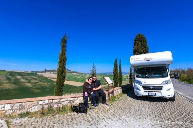 Toscana on the road in camper